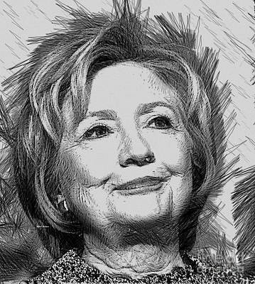 Digital Art - Hillary Clinton  by Rafael Salazar