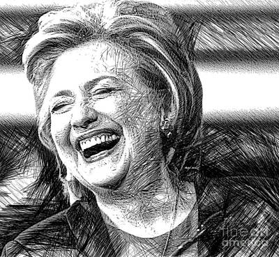 Digital Art - Hillary Rodham Clinton by Rafael Salazar