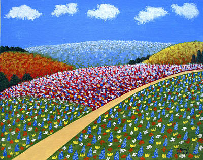 Painting - Hills Of Flowers by Frederic Kohli