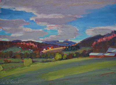 Painting - Hills Of Upstate New York by Len Stomski