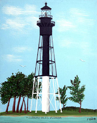 Lighthouse Painting - Hillsboro Inlet Lighthouse by Frederic Kohli