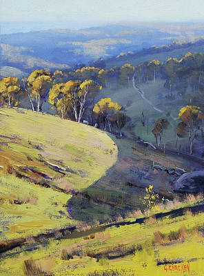 Hillside Shadows Art Print by Graham Gercken