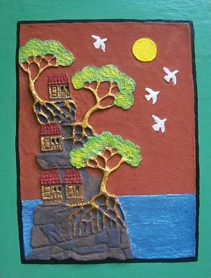 Hilltop Houses Art Print by Otil Rotcod