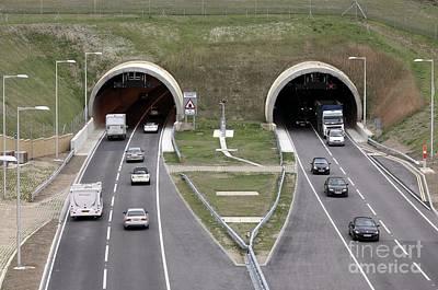Carriageway Photograph - Hindhead Tunnel by Martin Bond