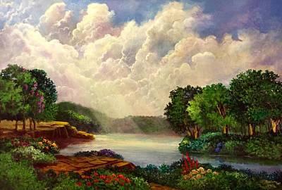 Painting - His Divine Creation by Randol Burns