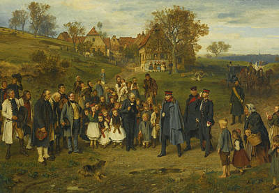 German Art Painting - His Highness On A Journey by Ludwig Knaus