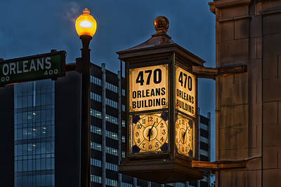 Beaumont Photograph - Historic Clock - Beaumont Texas by Mountain Dreams