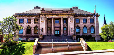 Photograph - Historic Public Library by Onyonet  Photo Studios