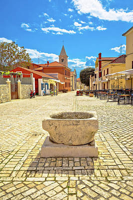 Photograph - Historic Town Of Nin Cobbled Square by Brch Photography