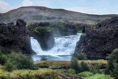 Ir Photograph - Hjalparfoss - Iceland by Joana Kruse