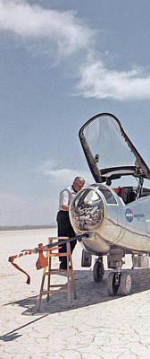 Painting - Hl-10 On Lakebed With B-52 Flyby Panel 1 by Celestial Images