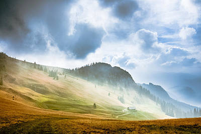 Photograph - Hochalm In Clouds by Alexander Kunz