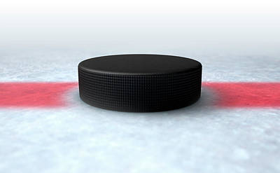Playing Digital Art - Hockey Puck Centre by Allan Swart