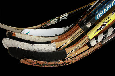 Photograph - Hockey Sticks by Carol Tsiatsios