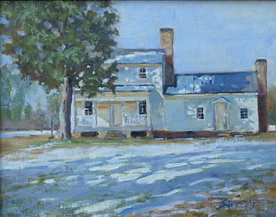 Warner Park Painting - Hodge House C. 1811 by Sandra Harris