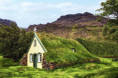 Hofskirkja - Iceland Print by Joana Kruse