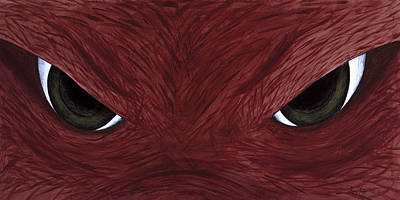 Hog Eyes Art Print by Amy Parker