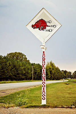 Arkansas Photograph - Hog Sign by Scott Pellegrin