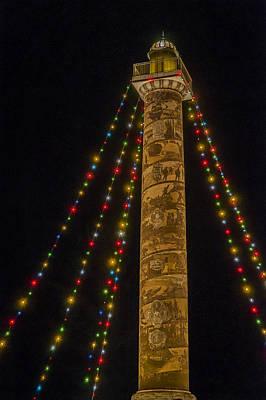 Photograph - Holiday Lights At Night by Robert Potts