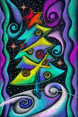 Christmas Trees Painting - Holiday Season by Leon Zernitsky