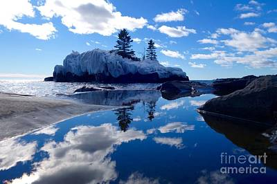 Hollow Rock Reflections Art Print by Sandra Updyke