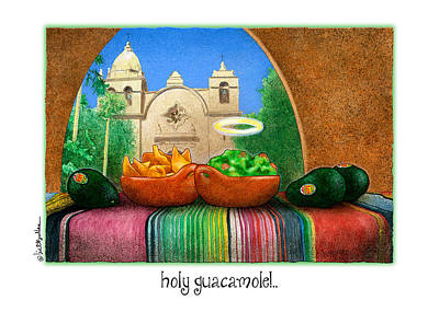Carmel Mission Painting - Holy Guacamole by Will Bullas