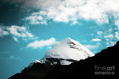 Roadblock Photograph - Holy Kailas Himalayas Mountain Tibet Yantra.lv by Raimond Klavins