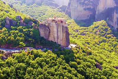 Photograph - Holy Monastery Of Rousanou In Meteora by Marek Poplawski