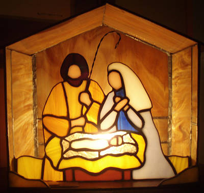 Glass Art - Holy Night by Liz Lowder