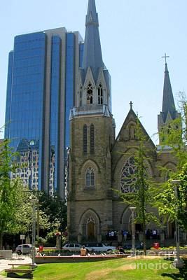 Photograph - Holy Rosary Cathedral by Frank Townsley
