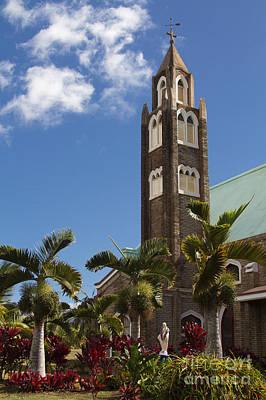 Holy Rosary Church Paia Maui Hawaii Art Print by Sharon Mau