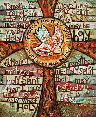 Painting - Holy Spirit Prayer By St. Augustine by Jen Norton