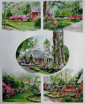 Home Collage Art Print by Gloria Turner