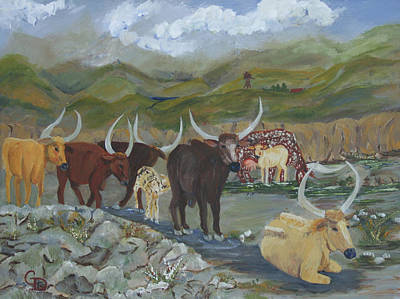 Painting - Home On The Range by Gail Daley