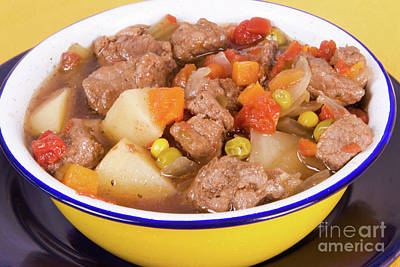 Photograph - Homemade Beef Soup With Assorted Vegetables by Vizual Studio