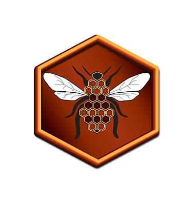 Bee Digital Art - Honeycomb Bee by Pelo Blanco Photo
