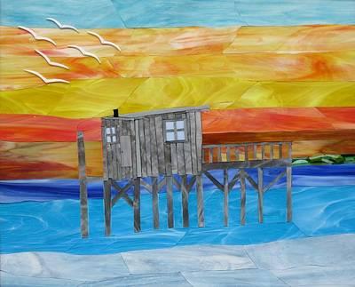 Honeymoon Sunset Art Print by Charles McDonell