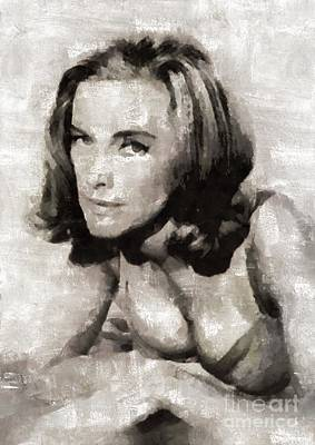 Elvis Presley Painting - Honor Blackman, Actress by Mary Bassett