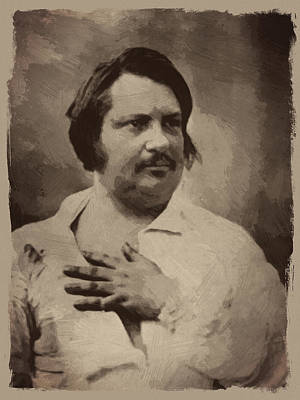 Honore De Balzac Art Print by Afterdarkness