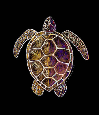 Turtle Painting - Honu by Kirsten Carlson