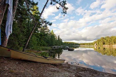 Photograph - Hook Lake Campsite by Sandy Swanson