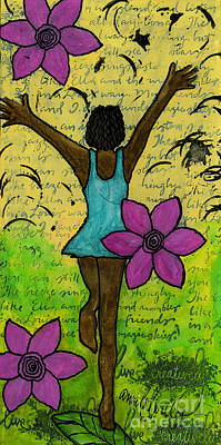 Mixed Media - Hooray by Angela L Walker