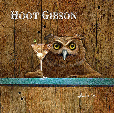 Painting - Hoot Gibson... by Will Bullas
