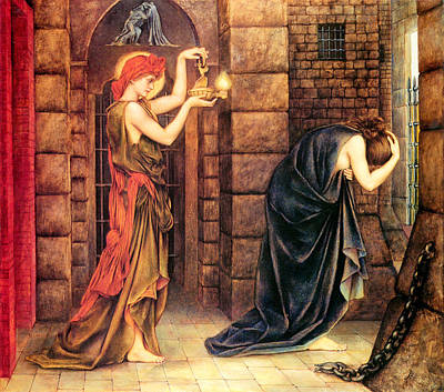 Dungeon Painting - Hope In The Prison Of Despair by Evelyn de Morgan