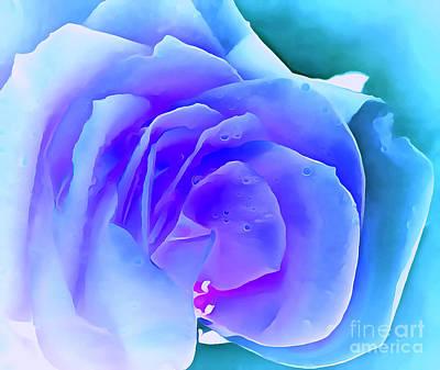 Blue Flowers Photograph - Hopeless Romantic by Krissy Katsimbras