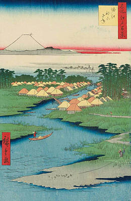 Edo Period Painting - Horie And Nekozane by Utagawa Hiroshige