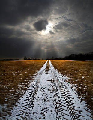 Winter Roads Photograph - Horizon Road by Phil Koch