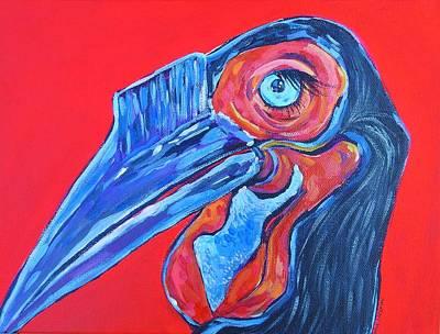Hornbill Painting - Hornbill by Arrin Burgand