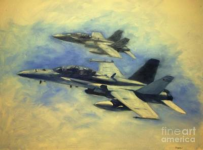 Usmc Painting - Hornets by Stephen Roberson