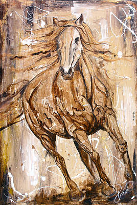 Mexican Decoration Painting - Horse Art - Leonardo Da Vinci Style by Paco Rocha